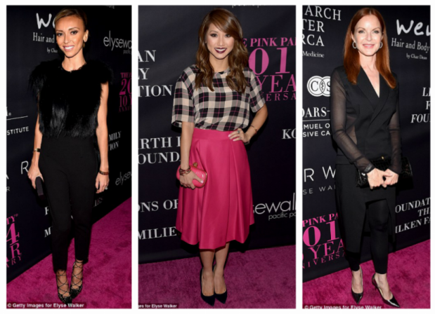 Giuliana Rancic, Brenda Song & Marcia Cross rocked black court shoes and gorgeous outfits on the pink carpet.