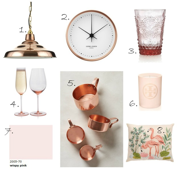 Pink and copper collage